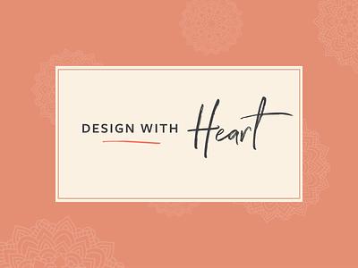 Design with Heart type mandala