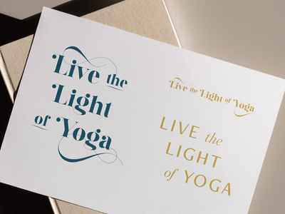 Live the Light of Yoga elegant wellness yoga branding type design logo brand identity typography tagline