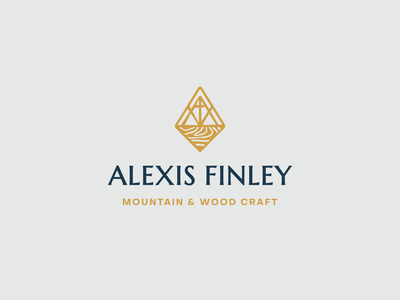 Alexis Finley Final Logo wood craft mountain modern mid-century design logo branding brand identity