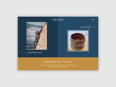 Alexis Finley Web Mockup mid-century modern branding brand identity squarespace web design website