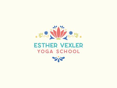 Yoga School Initial Concept talavera teal coral wellness yoga brand identity branding logo