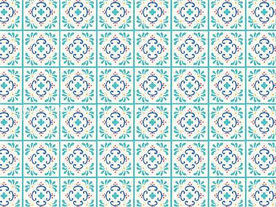 Yoga School Graphic Pattern talavera patterns pattern branding wellness yoga design illustration brand identity