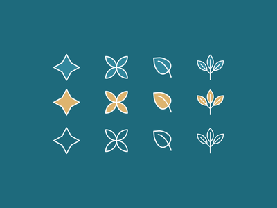 Clean Icons icon design icon set wellness branding brand identity