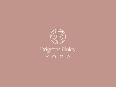Brigette Finley Yoga mid-century grand slang typography yoga wellness logo brand identity branding