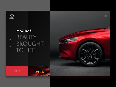 Mazda 3 - Main Page Concept design webdesign web red minimal interface concept design japan speed cars car mazda ui website concept