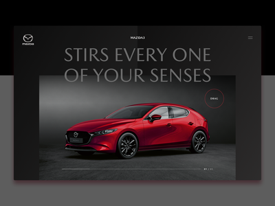Mazda 3 - Page Concept website design webdesign ui uiux speed clean minimal red mazda slider design interaction design interface concept design concept kodo japan cars car