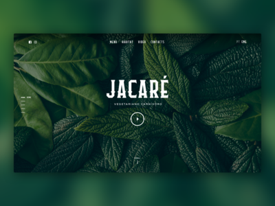 Jacaré - Restaurant Website