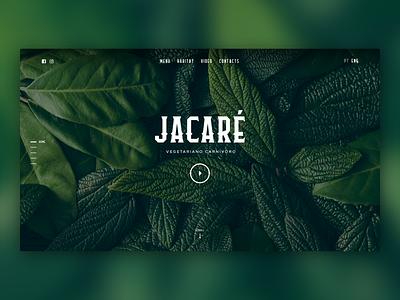 Jacaré - Restaurant Website green wild tropical sketch portugal restaurant website ui ux  ui interface webdesigner webdesign web design