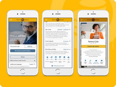 Insurance Company - App insurance app ux design ui design ux ui mobile assurance app finance advisor