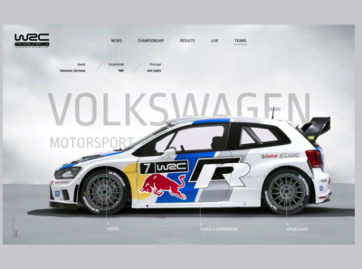 WRC Team page