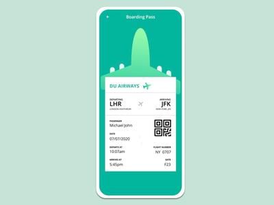 Boarding Pass figma app productdesign webdesign webdesigner bechance dribbble appdesign ui interface ux uidesigner userexperience userinterface redesign uidesign uidesignpatterns