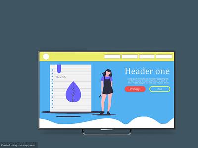 tutoring website mockup ux