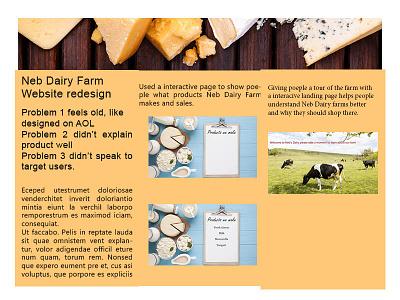 Neb Dairy Farm mock up interactive ui website mock ups branding landing page web design ux mockup