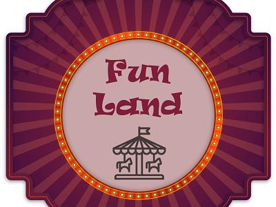 Fun Land Park identity amusement park illustrator icon typography vector branding brand design