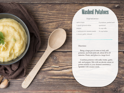 Mashed Potatoes potatoes food thanksgiving dailyui web website design ux dribbbleweeklywarmup