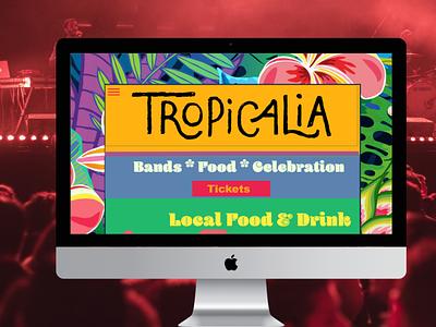 Tropicalia music brand identity design ux website illustration typography mockup ui branding briefbox