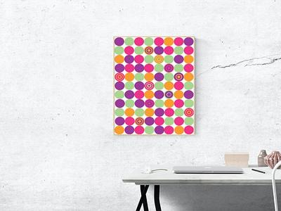 Office poster color design ui