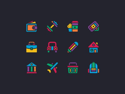Two Strapping Icon set puzzle simpleasmilk iconography icon set icons