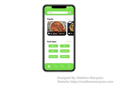Daily UI 040 :: Recipe baking food kitchen mobile planning recipe meals figma web app minimal dailyui040 dailyui clean design ux ui