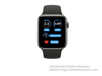 Daily UI 041 :: Workout Tracker fitness smart watch app minimal dailyui clean design ux ui