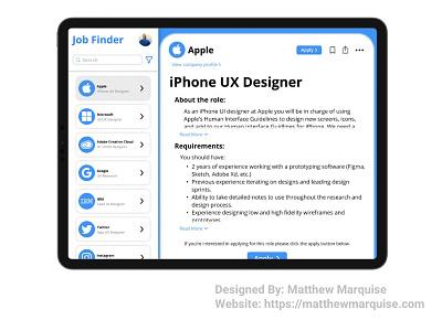 Daily UI 050 :: Job Listing web mobile listings jobs tablet app minimal dailyui clean design ux ui