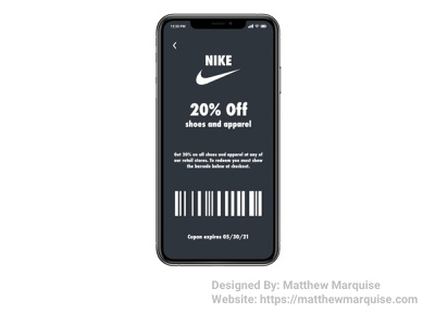 Daily UI 061 :: Redeem Coupon mobile shopping deal coupon dailyui061 app minimal dailyui clean design ux ui