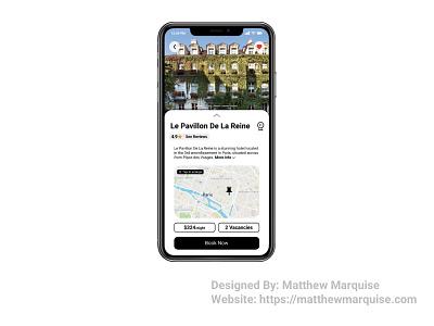 Daily UI 067 :: Hotel Booking maps ratings reviews reservations dailyui067 figma mobile web booking hotel app minimal dailyui clean design ux ui