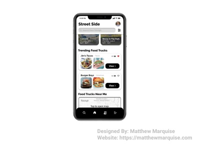 Daily UI 069 :: Trending concept food mobile dailyui069 app recommended popular featured trending trends minimal dailyui design ux ui