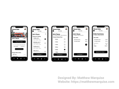 Daily UI 075 :: Pre-Order figma forms user journey user flow mobile dailyui075 preorder order food app minimal dailyui clean design ux ui