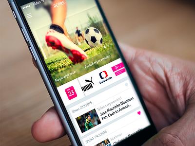 Fotball iOS App fotball ios app ui