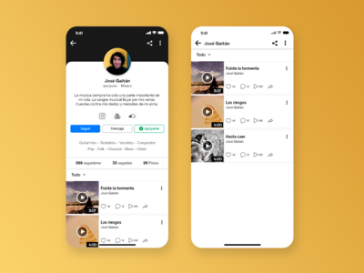 User Profile - musicians app