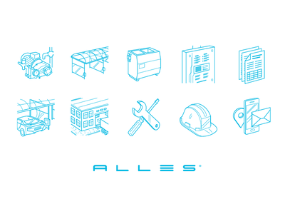 Icons Alles icons icon illustration thin stroke web flat
