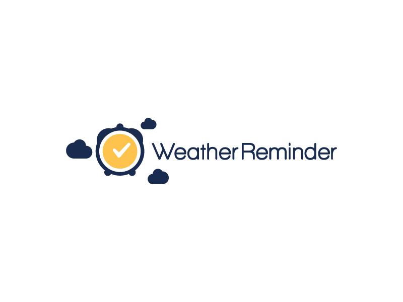 Concept logo 1 sun flat remind weather time alarm cloud check develop logo