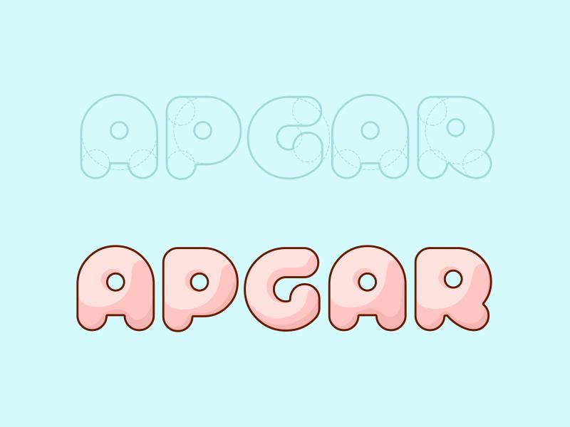 Test Apgar stroke kids baby medicine flat interface ios mobile app develop test logo