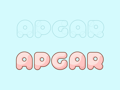Test Apgar stroke kids baby medicine flat interface ios mobile app develop test logo