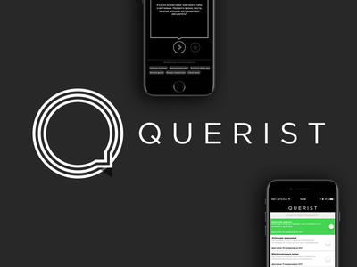 Querist message circle balloon logo ux ui speak phone ios communication black app