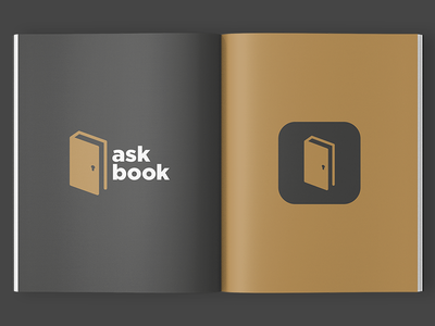 Askbook icon ios question ask gold door key book identity app logo