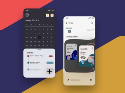 Daily UI #13 A Schedule app