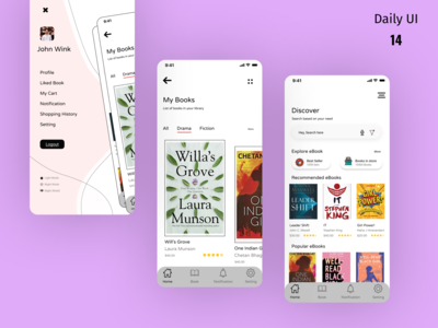 Online book store ios app concept