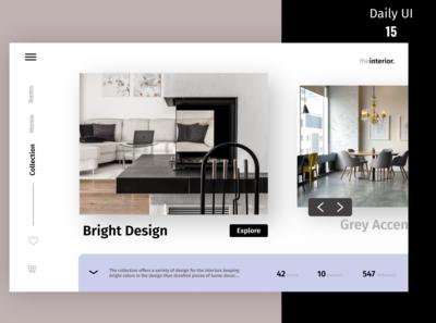 Home decor website design concept