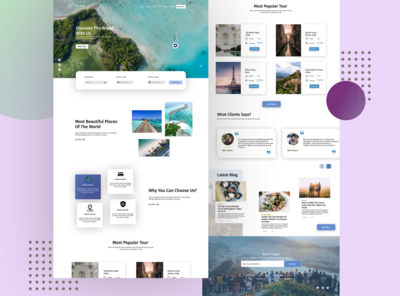 Travel planing and booking website ui