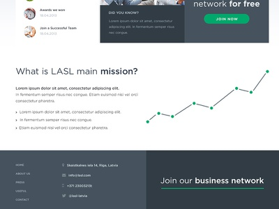 Experimenting with layout web website minimal modern clean layout footer