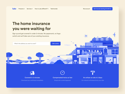 New Luko Landing • 2020 Rebranding ui ux rebranding illustration desktop design system marketing product landing