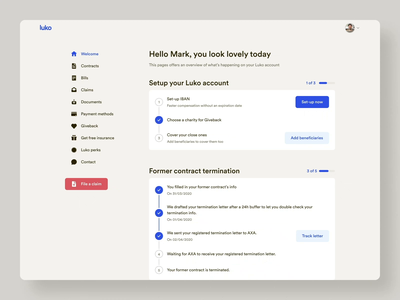 New MyLuko • 2020 Rebranding account ux ui rebranding product desktop design system