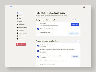 New MyLuko • 2020 Rebranding account ux ui rebranding product desktop design system