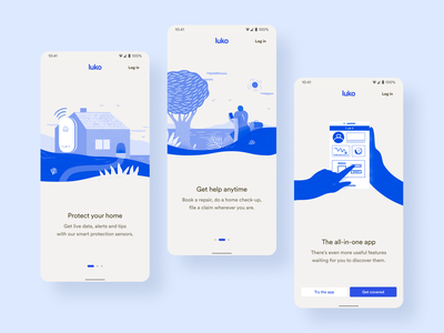 New Luko Welcome Screen • 2020 Rebranding android design system rebranding ui ux product illustration app mobile