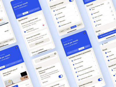 New Mobile Onboarding • 2020 Rebranding ios contract insurance mobile onboarding app illustration product ux ui rebranding design system