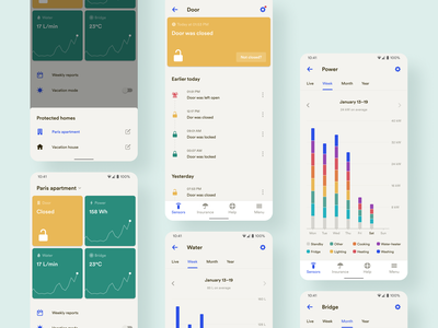 New Sensors Screens • 2020 Rebranding android mobile app design system rebranding uiux ui automation iot data protection sensors product