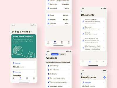 New Insurance Screens • 2020 Rebranding ios mobile app illustration ui ux product rebranding contract