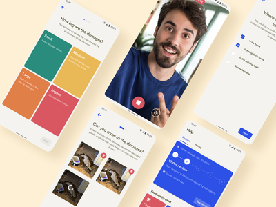 New Claim Flow • 2020 Rebranding android declaration claim rebranding product ux ui app mobile